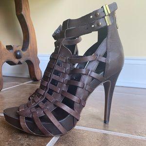 BCBGeneration Carissa Brown Leather Heel